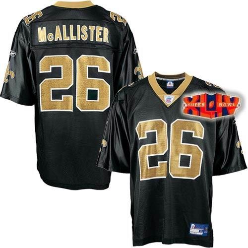 New Orleans Saints 26# Deuce McAllister Super Bowl XLIV Team Jersey black