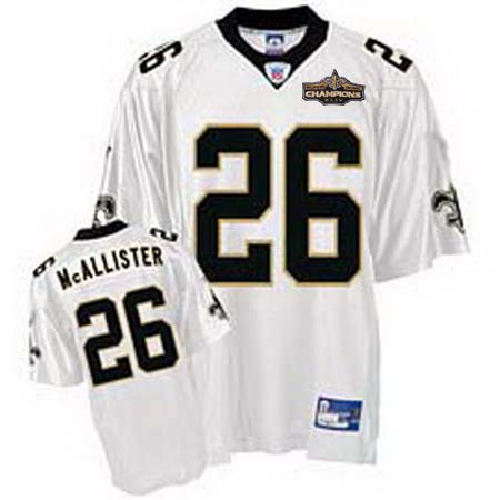 New Orleans Saints 26 Deuce McAllister White Champions patch
