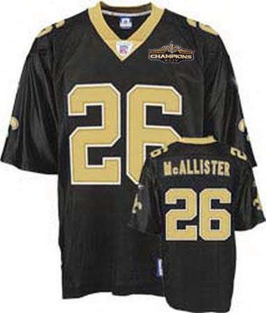 New Orleans Saints 26 Deuce McAllister black Champions patch