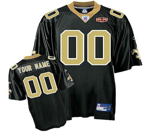 New Orleans Saints Super Bowl XLIV Customized Team Color Jerseys