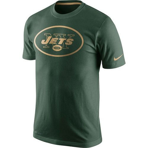 New York Jets Nike Green Championship Drive Gold Collection Performance T-Shirt