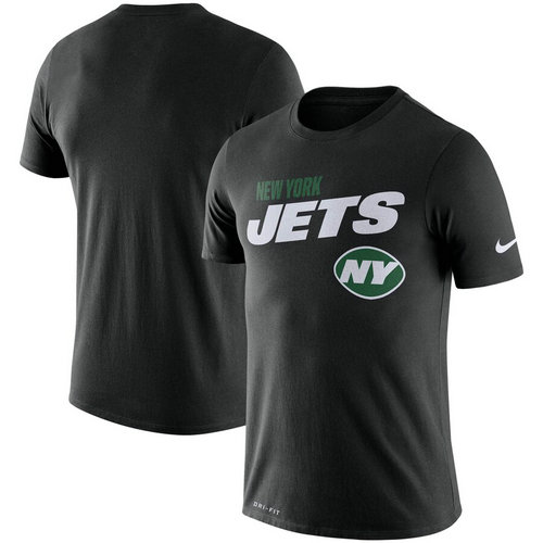 New York Jets Nike Sideline Line Of Scrimmage Legend Performance T-Shirt Black