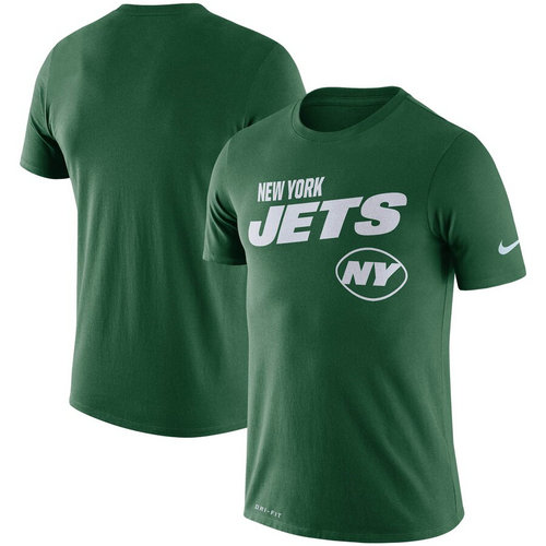 New York Jets Nike Sideline Line Of Scrimmage Legend Performance T-Shirt Green