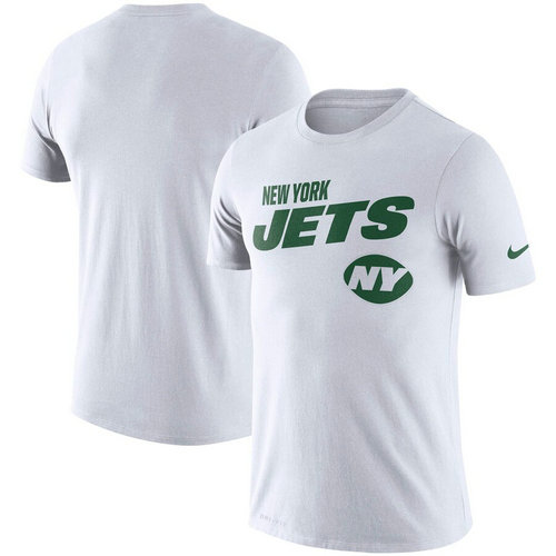New York Jets Nike Sideline Line Of Scrimmage Legend Performance T-Shirt White
