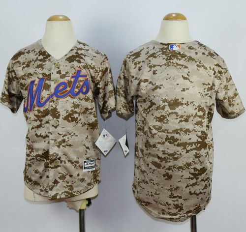 New York Mets Blank Camo Alternate Cool Base Kid MLB Jersey
