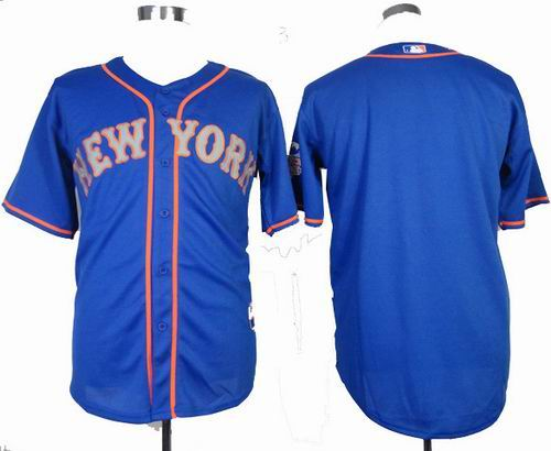 New York Mets blank blue grey number Cool Base Jersey w2013 All-Star Patch