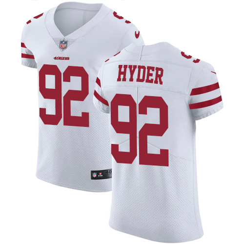 Nike 49ers #92 Kerry Hyder White Men's Stitched NFL New Elite Jersey
