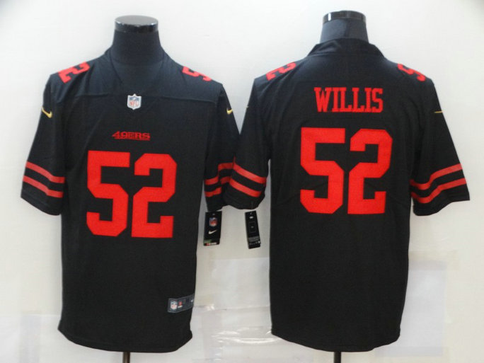 Nike 49ers 52 Patrick Willis Black Vapor Untouchable Limited Jersey