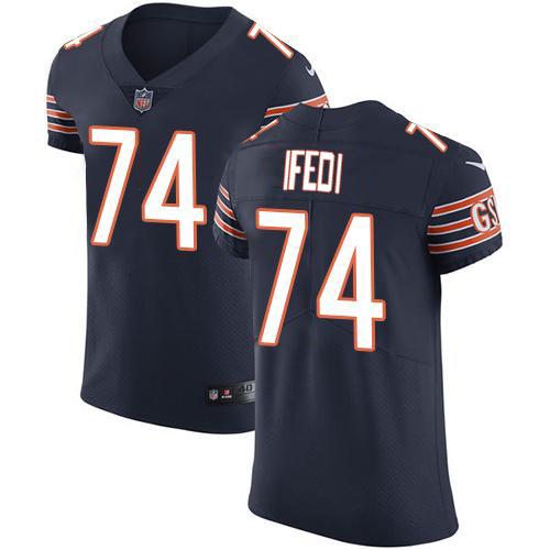 Nike Bears #74 Germain Ifedi Navy Blue Team Color Men's Stitched NFL Vapor Untouchable Elite Jersey