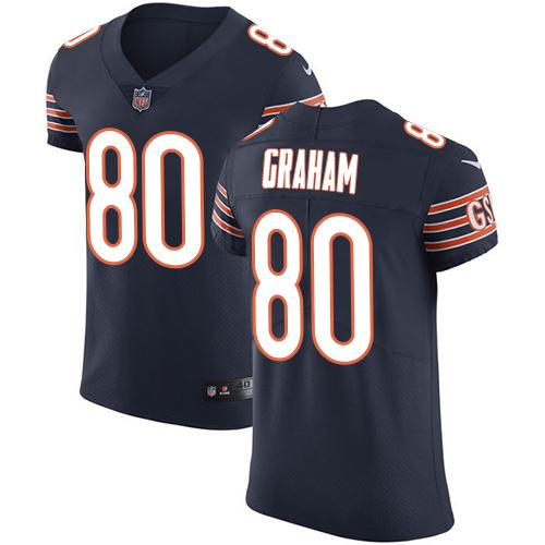 Nike Bears #80 Jimmy Graham Navy Blue Team Color Men's Stitched NFL Vapor Untouchable Elite Jersey