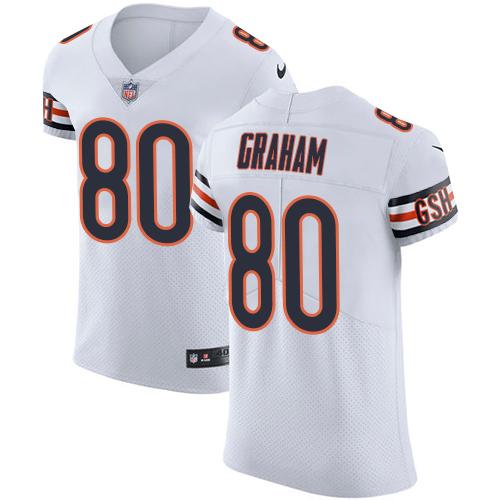 Nike Bears #80 Jimmy Graham White Men's Stitched NFL New Elite Jersey