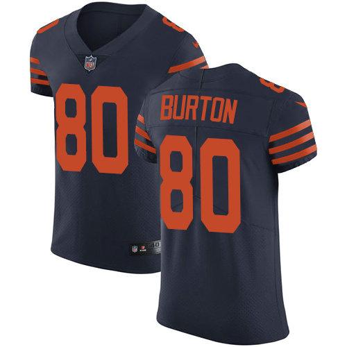 Nike Bears #80 Trey Burton Navy Blue Alternate Men's Stitched NFL Vapor Untouchable Elite Jersey