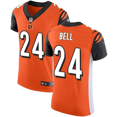 Nike Bengals #24 Vonn Bell Orange Alternate Men's Stitched NFL New Elite Jersey
