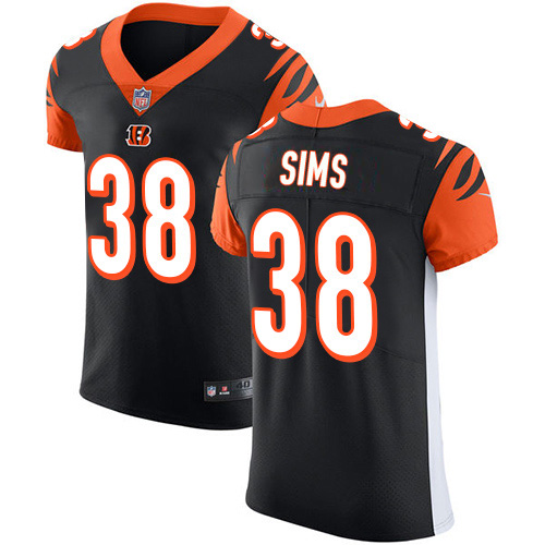 Nike Bengals #38 LeShaun Sims Black Team Color Men's Stitched NFL Vapor Untouchable Elite Jersey