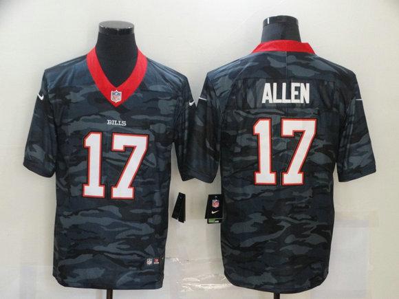 Nike Bills 17 Josh Allen Black Camo Limited Jersey
