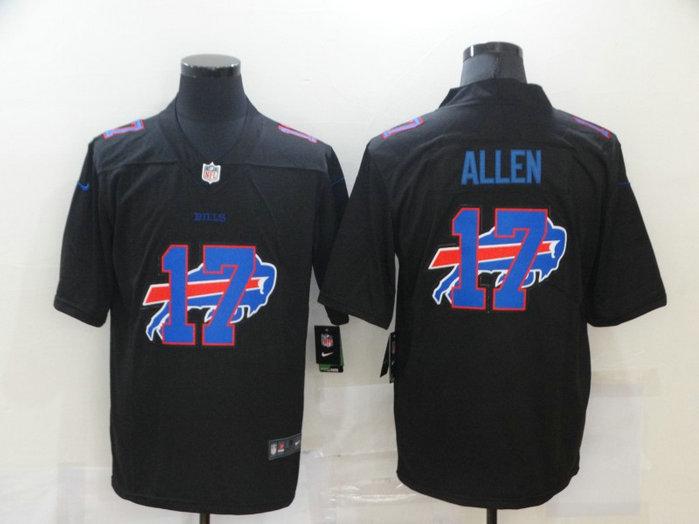 Nike Bills 17 Josh Allen Black Shadow Logo Limited Jersey