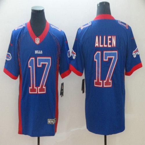 Nike Bills 17 Josh Allen Royal Drift Fashion Limited Jersey