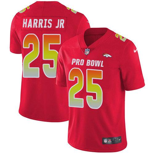 Nike Broncos #25 Chris Harris Jr Red Men's Stitched NFL Limited AFC 2019 Pro Bowl Jersey