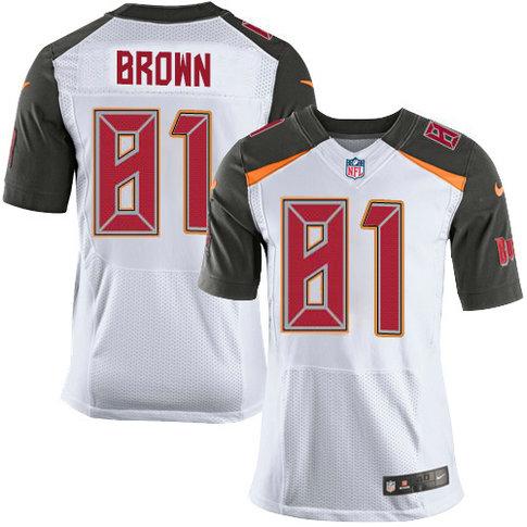 Nike Buccaneers #81 Antonio Brown White Men's Stitched NFL New Elite Jersey