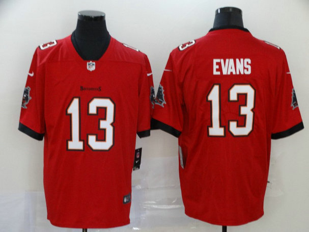Nike Buccaneers 13 Mike Evans Red New 2020 Vapor Untouchable Limited Jersey
