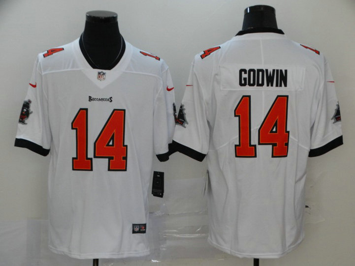 Nike Buccaneers 14 Chris Godwin White New 2020 Vapor Untouchable Limited Jersey