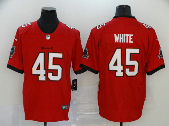 Nike Buccaneers 45 Devin White Red New 2020 Vapor Untouchable Limited Jersey