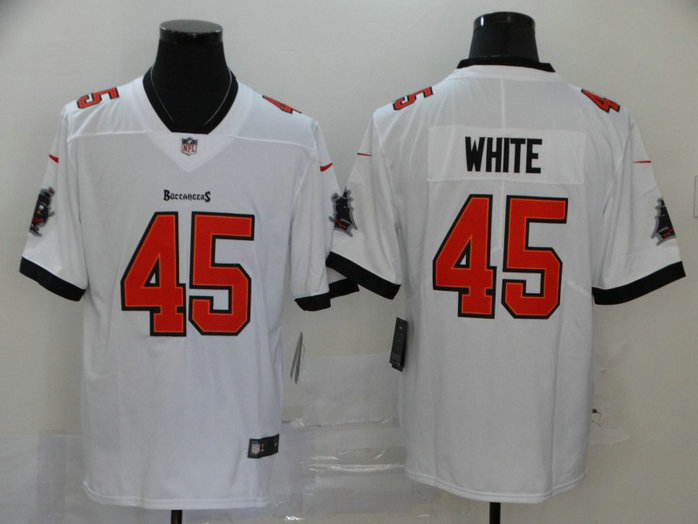 Nike Buccaneers 45 Devin White White New 2020 Vapor Untouchable Limited Jersey