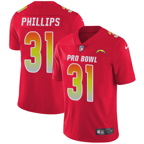 Nike Chargers #31 Adrian Phillips Red Youth Stitched NFL Limited AFC 2019 Pro Bowl Jersey