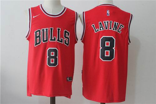 Nike Chicago Bulls #8 Zach LaVine red Fashion Jersey