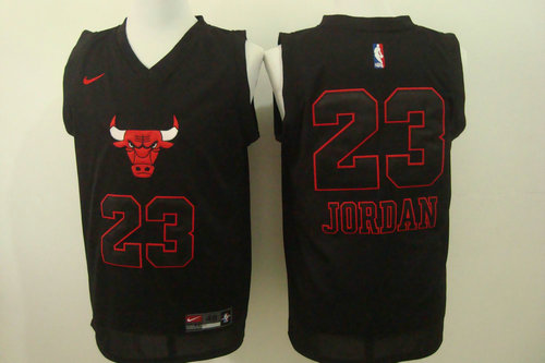 Nike Chicago Bulls 23 Michael Jordan Black Fashion 2016 new NBA Jersey