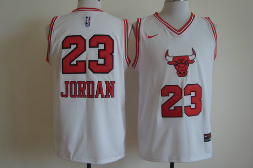 Nike Chicago Bulls 23 Michael Jordan White 2016 new NBA Jersey
