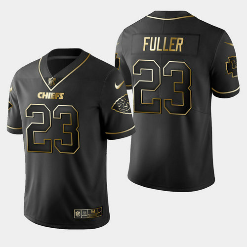Nike Chiefs 23 Kendall Fuller Black Gold Vapor Untouchable Limited Jersey