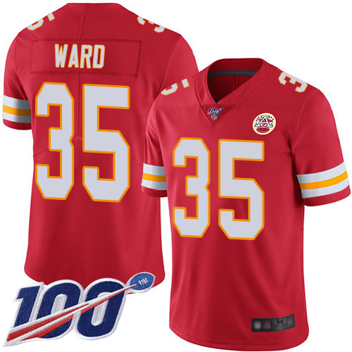 Nike Chiefs 35 Charvarius Ward Red 100th Season Vapor Untouchable Limited Jersey