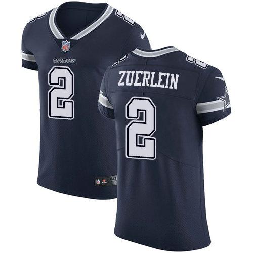 Nike Cowboys #2 Greg Zuerlein Navy Blue Team Color Men's Stitched NFL Vapor Untouchable Elite Jersey