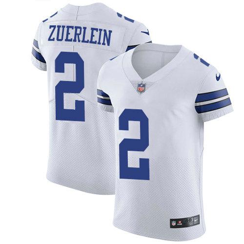 Nike Cowboys #2 Greg Zuerlein White Men's Stitched NFL New Elite Jersey