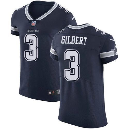 Nike Cowboys #3 Garrett Gilbert Navy Blue Team Color Men's Stitched NFL Vapor Untouchable Elite Jersey