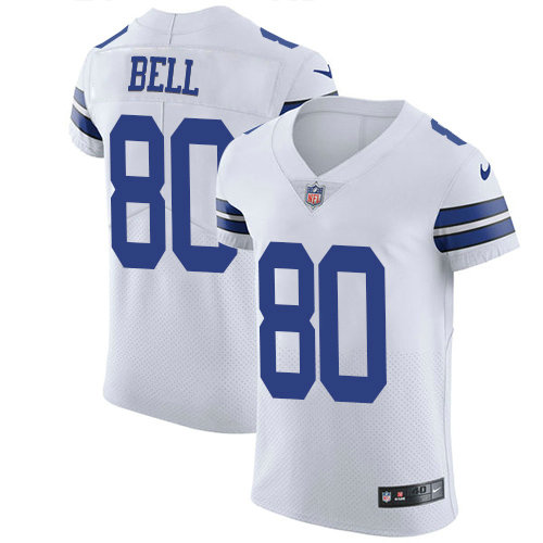 Nike Cowboys #80 Blake Bell White Men's Stitched NFL New Elite Jersey