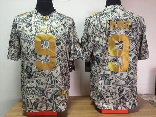Nike Dallas Cowboys #9 Tony Romo Dollar Fashion Game jerseys