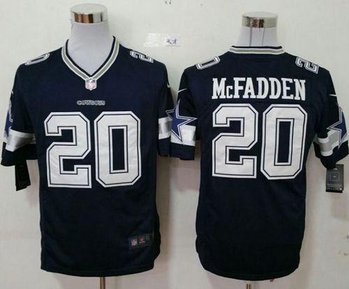 Nike Dallas Cowboys 20 Darren McFadden Navy Blue Team Color NFL Game jersey