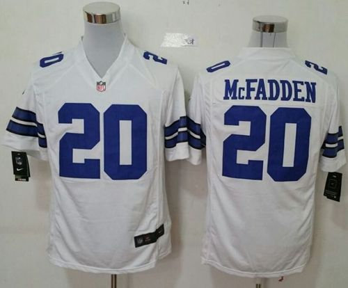 Nike Dallas Cowboys 20 Darren McFadden White NFL Game Jersey