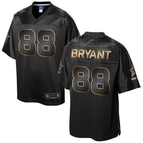 Nike Dallas Cowboys 88 Dez Bryant Pro Line Black Gold Collection NFL Game Jersey