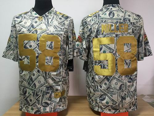 Nike Denver Broncos #58 Von Miller Dollar Fashion Game jerseys