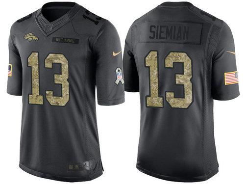 Nike Denver Broncos 13 Trevor Siemian Black NFL Salute to Service Limited Jerseys
