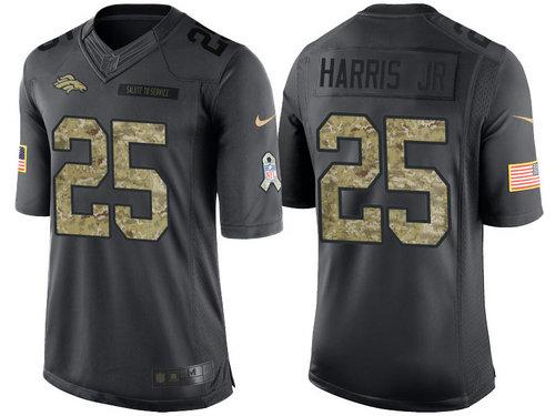 Nike Denver Broncos 25 Chris Harris Jr Black NFL Salute to Service Limited Jerseys