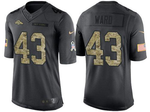 Nike Denver Broncos 43 T.J. Ward Black NFL Salute to Service Limited Jerseys