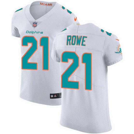 Nike Dolphins #21 Eric Rowe White Men's Stitched NFL New Elite Jersey