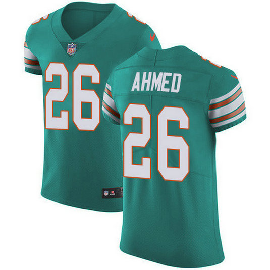 Nike Dolphins #26 Salvon Ahmed Aqua Green Alternate Men's Stitched NFL New Elite Jersey