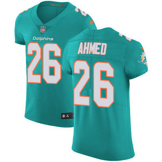 Nike Dolphins #26 Salvon Ahmed Aqua Green Team Color Men's Stitched NFL Vapor Untouchable Elite Jersey