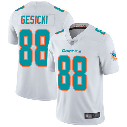 Nike Dolphins 88 Mike Gesicki White Vapor Untouchable Limited Jersey