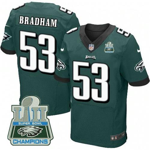 Nike Eagles #53 Nigel Bradham Green 2018 Super Bowl Champions Elite Jersey